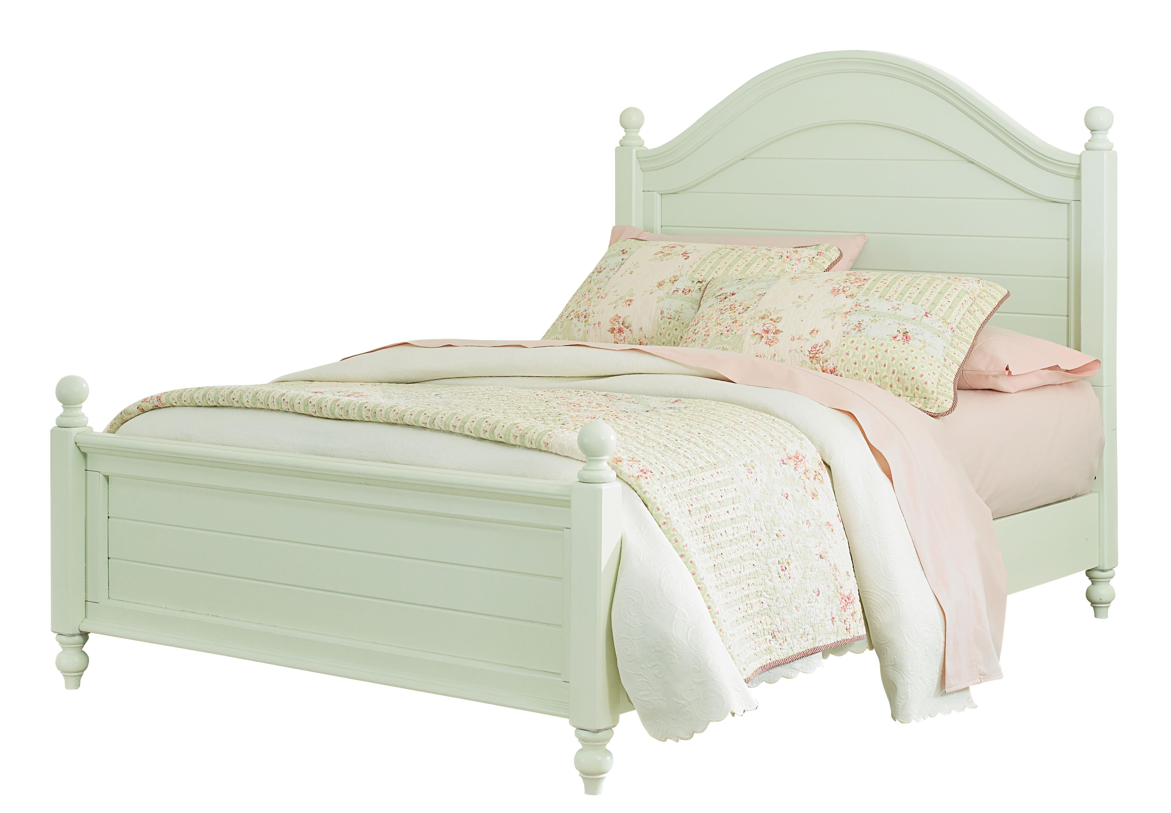 Standard Furniture Camellia Mint Full Bed with Cannonball Bed Posts - Item Number: 95222+24+26