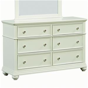 Standard Furniture Camellia Mint Cottage Dresser