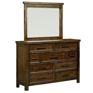 Standard Furniture Cameron Dresser and Mirror Set