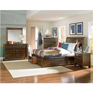 Standard Furniture Cameron King Storage Bed, Dresser, Mirror & Nightsta