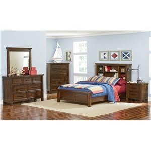 Standard Furniture Cameron Youth Full Bedroom Group with Bookcase Bed
