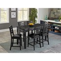Standard Furniture Canaan 7-Piece Counter Height Dining Set - Item Number: 10276