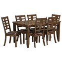 Standard Furniture Canaan Brown 7-Piece Dining Table & Chair Set - Item Number: 14222
