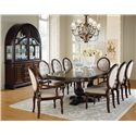 Standard Furniture Carrington Dining Lighted Traditional Buffet and Hutch