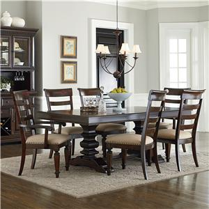 Standard Furniture Charleston 7 Piece Trestle Table and Chair Set