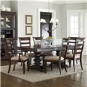 Standard Furniture Charleston 7 Piece Trestle Table and Chair Set - Item Number: 16721+2016721+2x25+4x24
