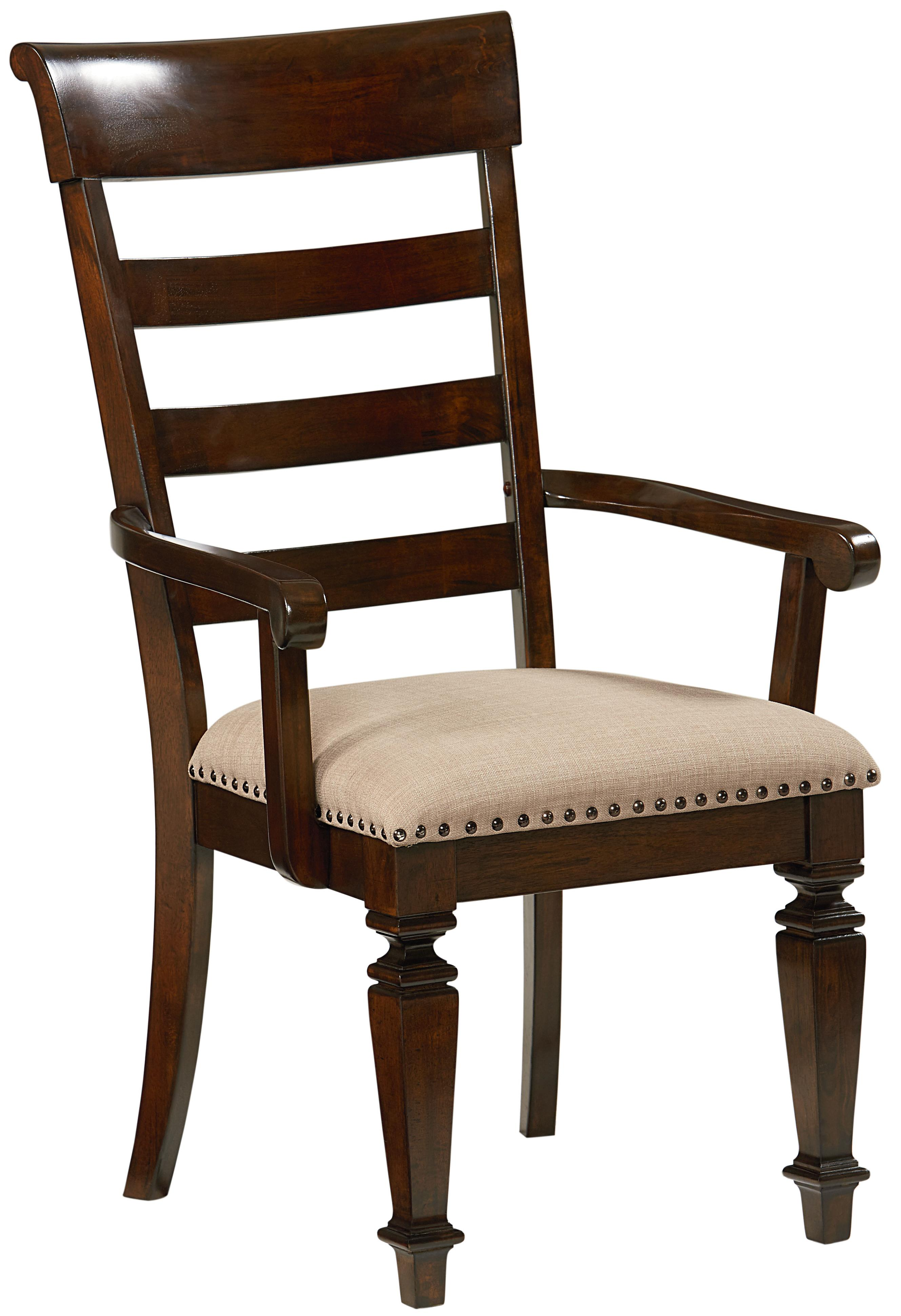 Standard Furniture Charleston 16725 Arm Chair With Upholstered Seat Household Furniture