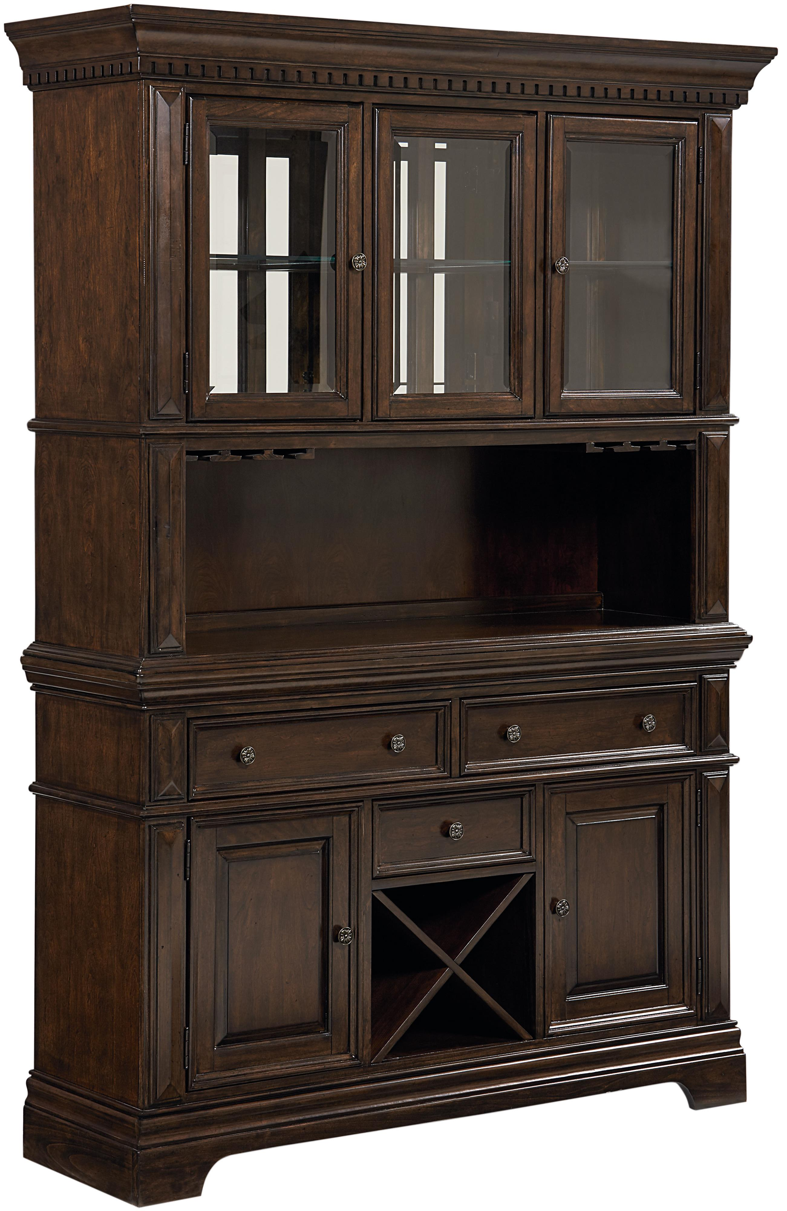 Standard furniture charleston buffet hutch with wine