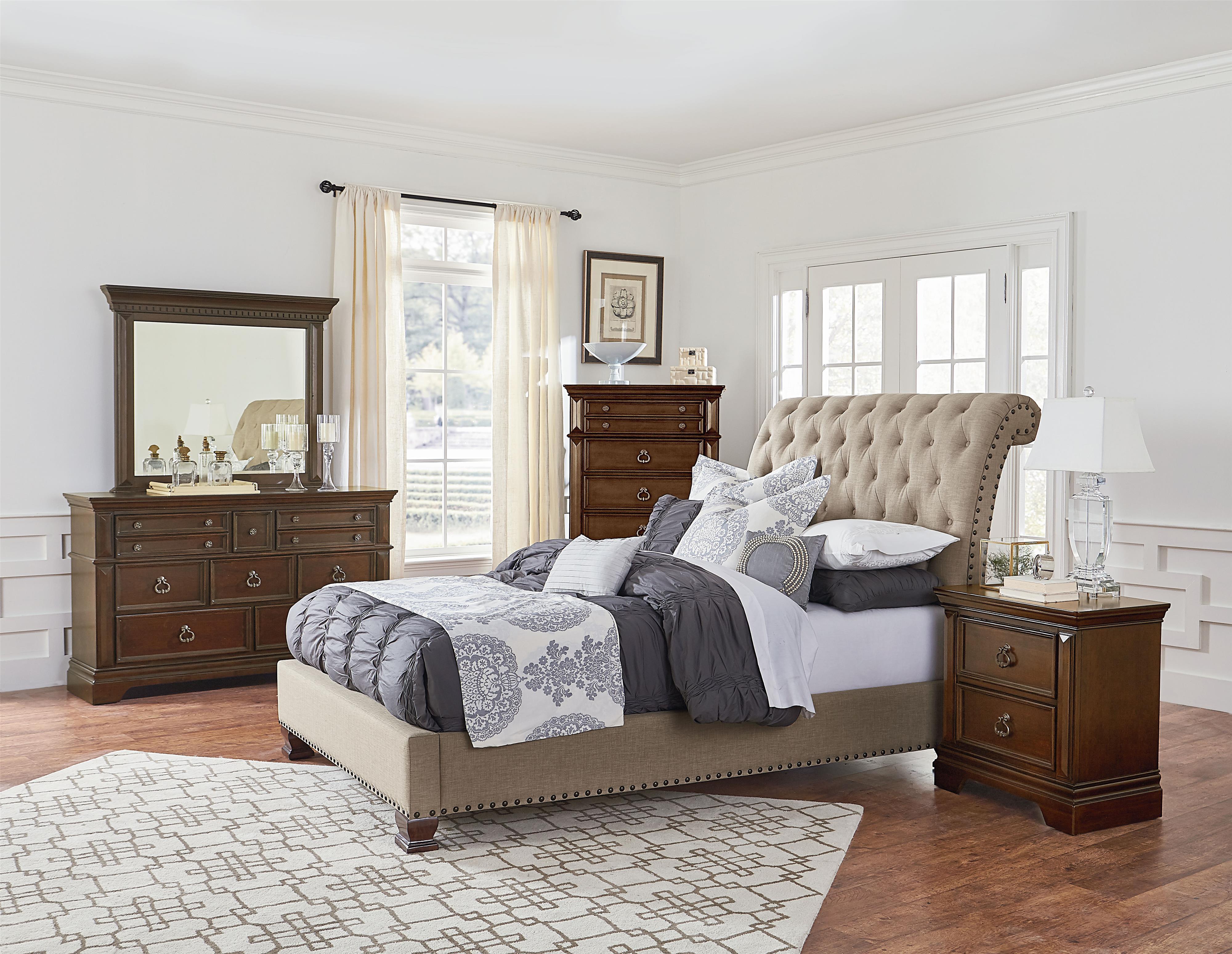 Standard Furniture Charleston Upholstered Bedroom Group - Item Number: 96000 Q Bedroom Group 2