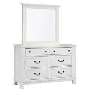 Standard Furniture Chesapeake Bay Youth Dresser and Mirror Set