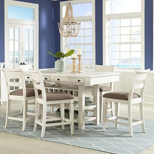 7-Pc Pub Table and Chair Set