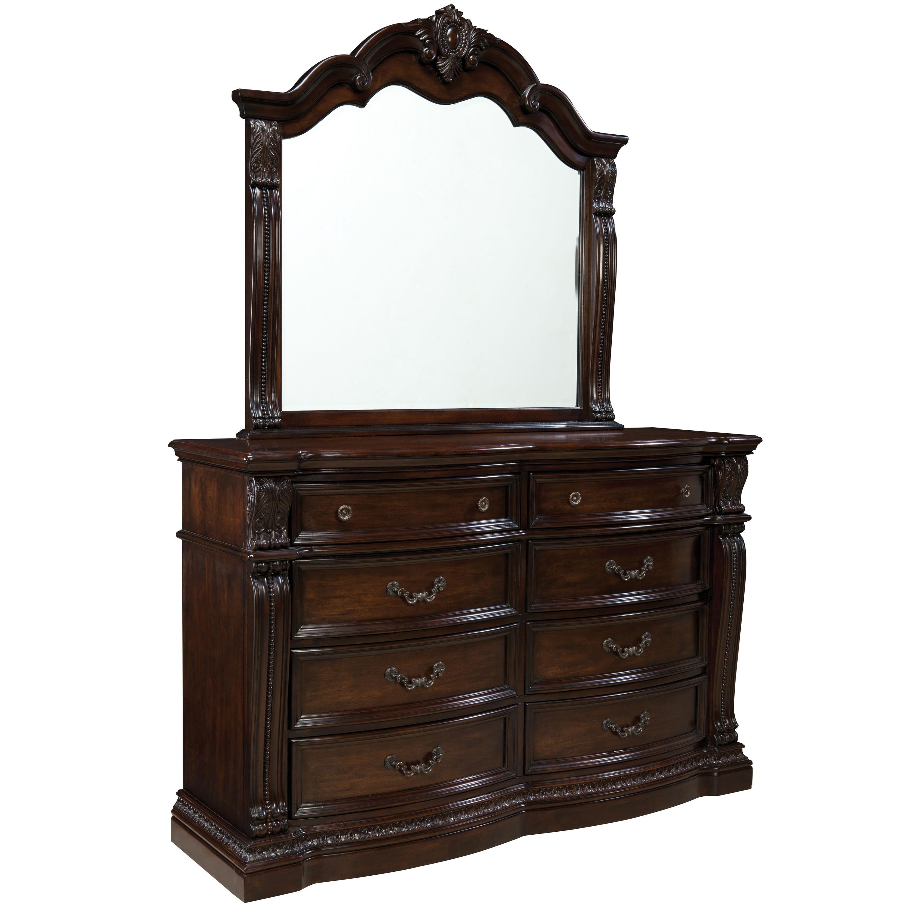Standard Furniture Churchill  Dresser with Mirror - Item Number: 86009+86008