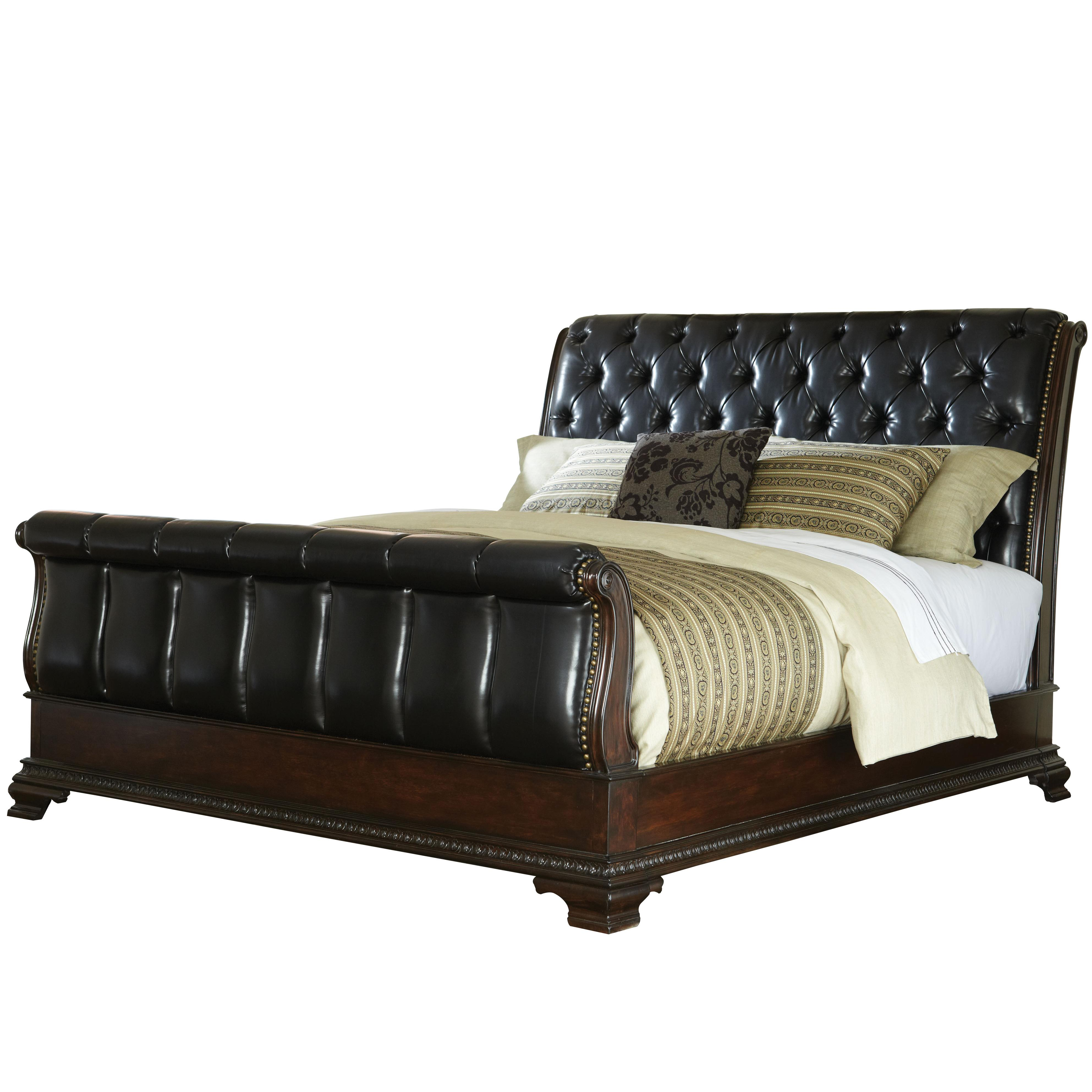 Standard Furniture Churchill  Queen Upholstered Sleigh Bed - Item Number: 86021+86022+86023
