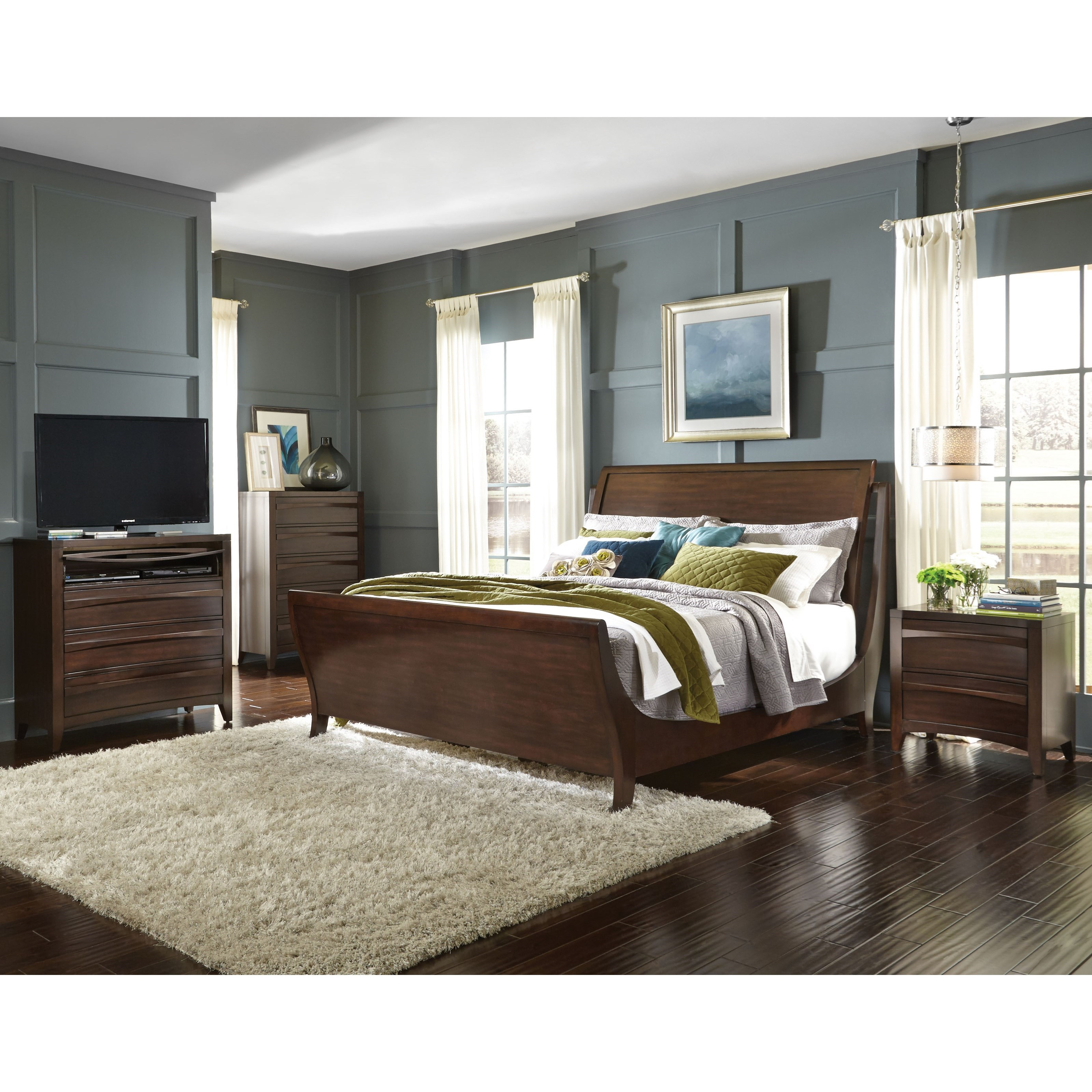 Media Chest Bedroom Standard Furniture Contour Queen Bedroom Group With Media Chest