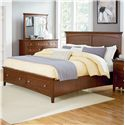 Standard Furniture Cooperstown Casual Queen Bed with Storage Footboard