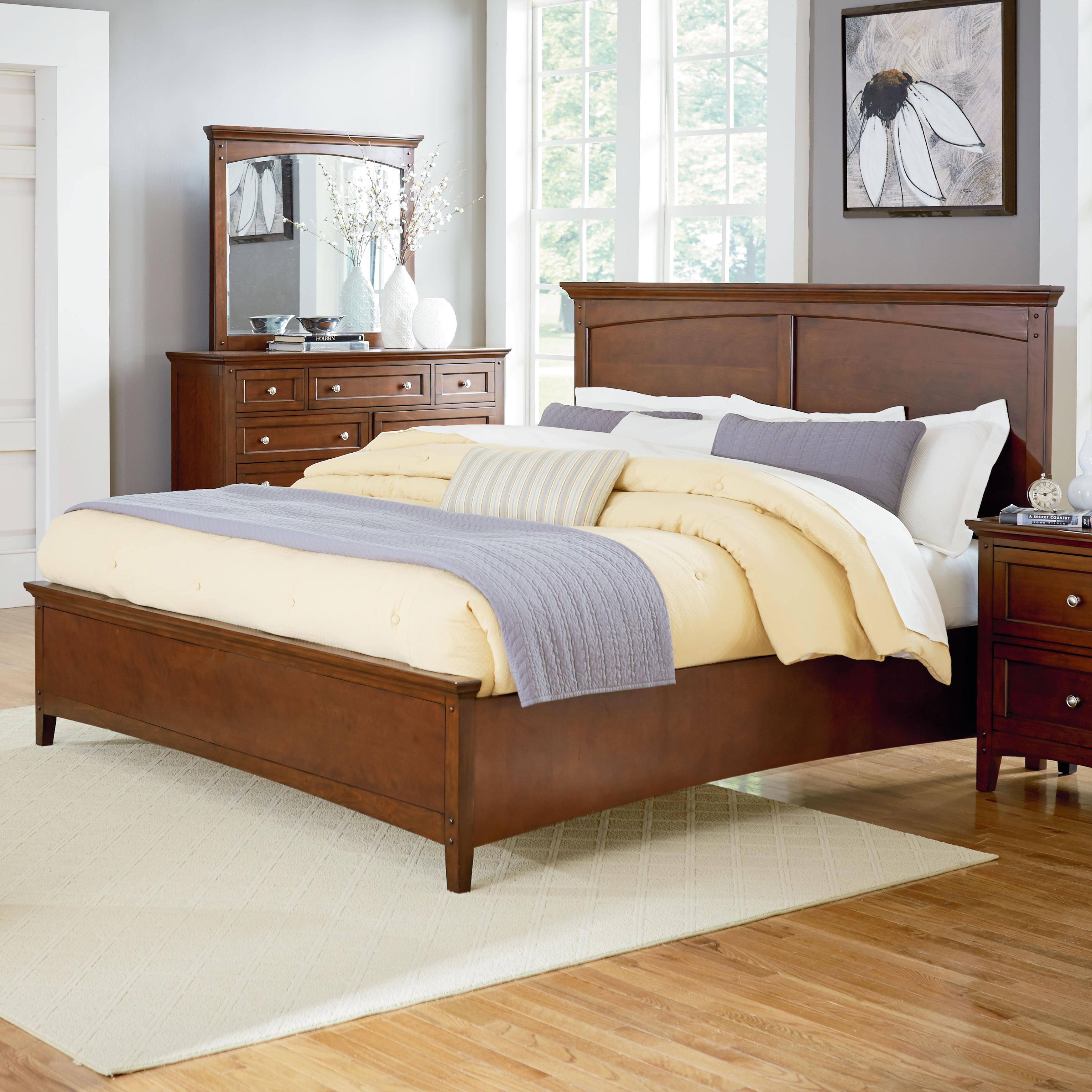 Standard Furniture Cooperstown Queen Panel Bed - Item Number: 93801+04+12