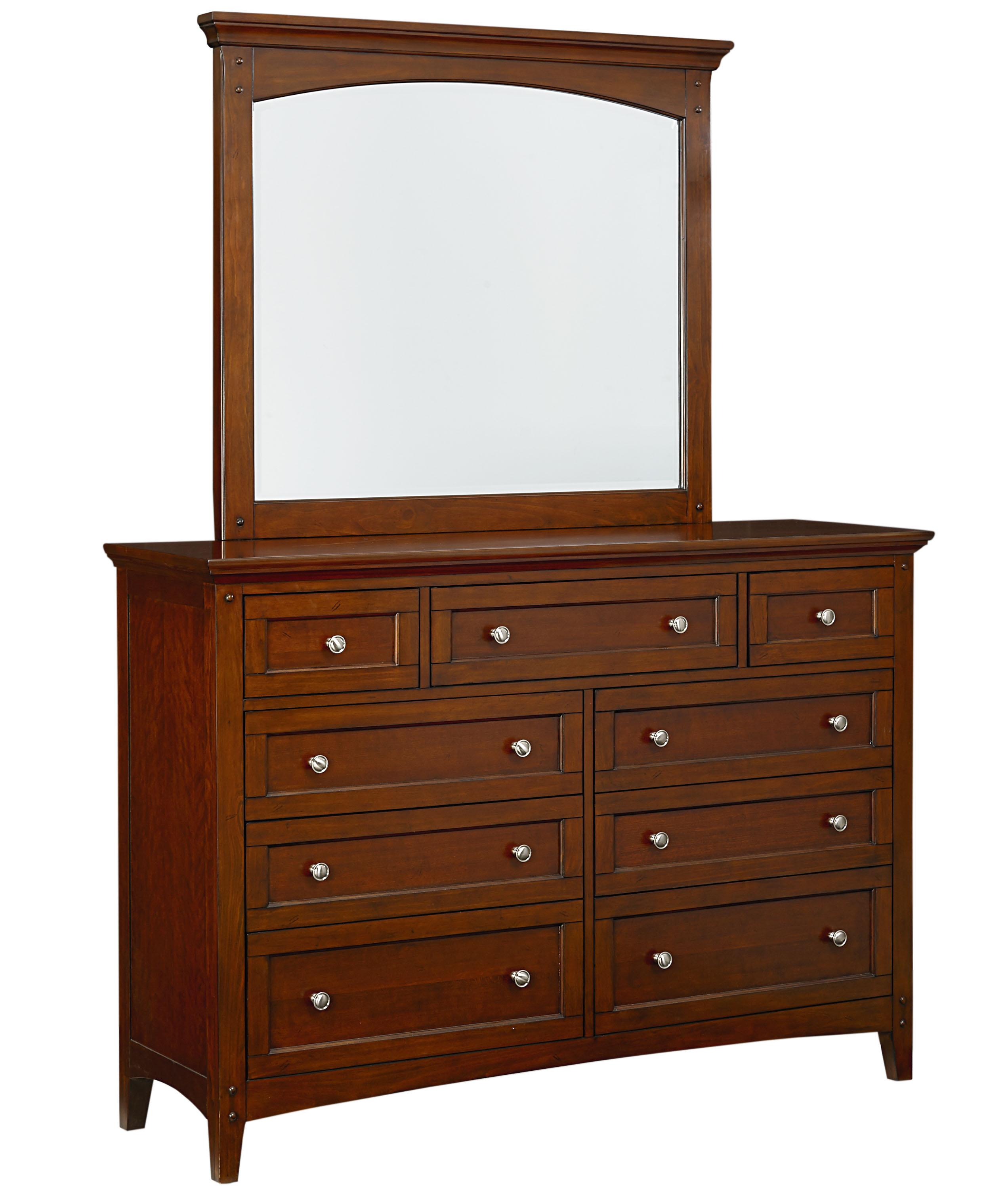Standard Furniture Cooperstown Dresser and Mirror - Item Number: 93809+08