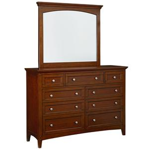 Standard Furniture Cooperstown Dresser and Mirror