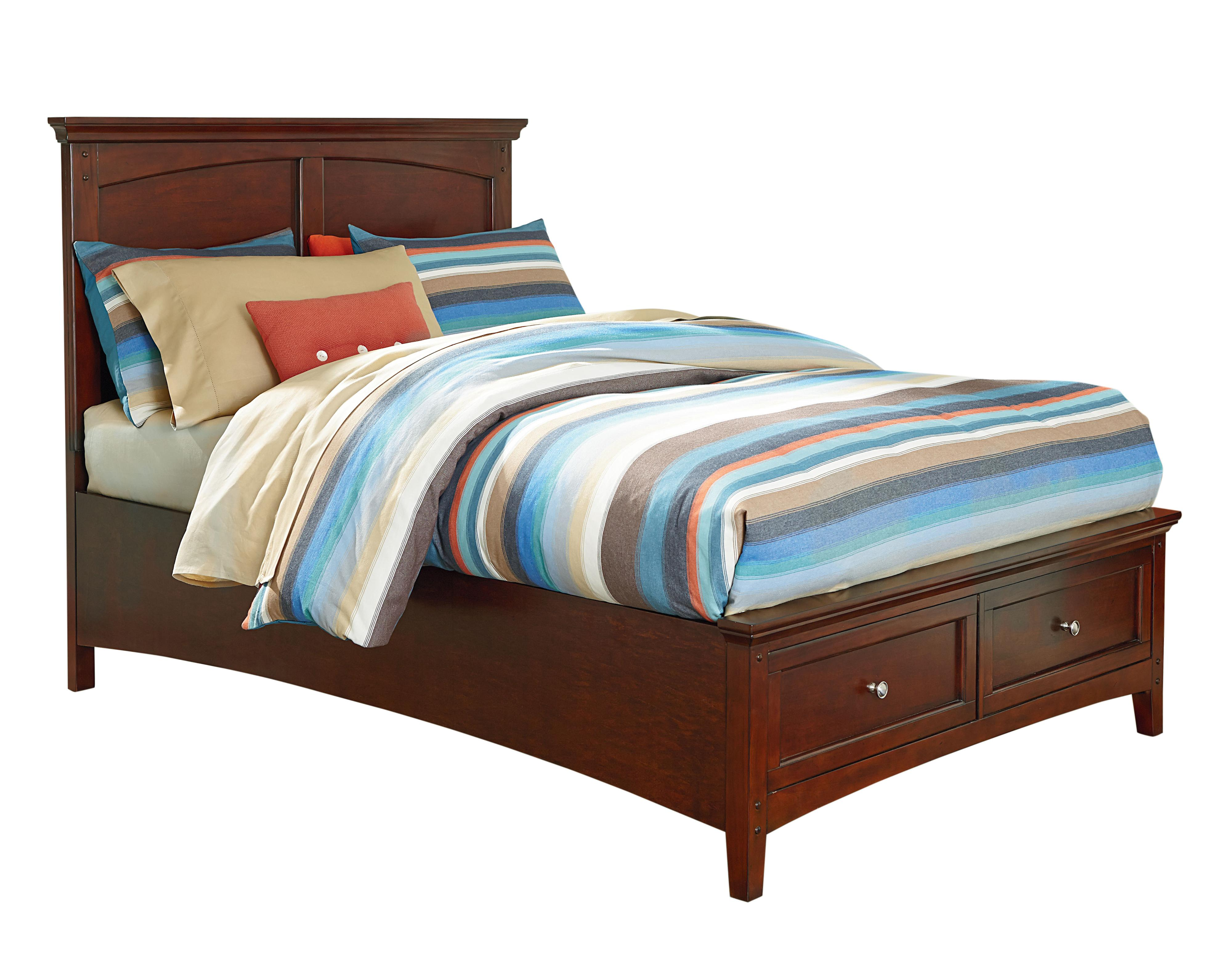 Cooperstown Casual Twin Bed With Storage Footboard By Standard Furniture Wolf Furniture