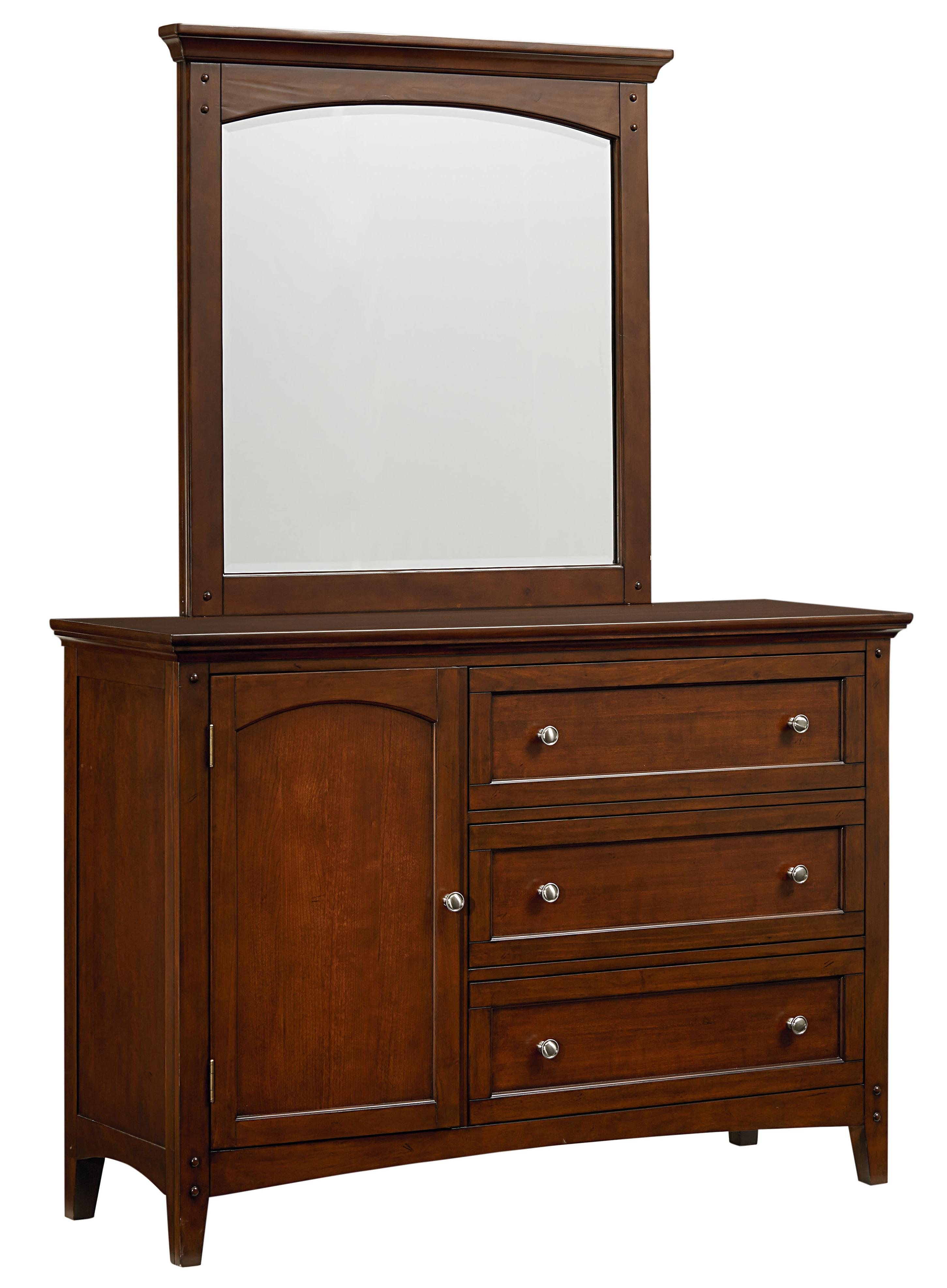 Standard Furniture Cooperstown Youth Dresser and Mirror - Item Number: 93849+18
