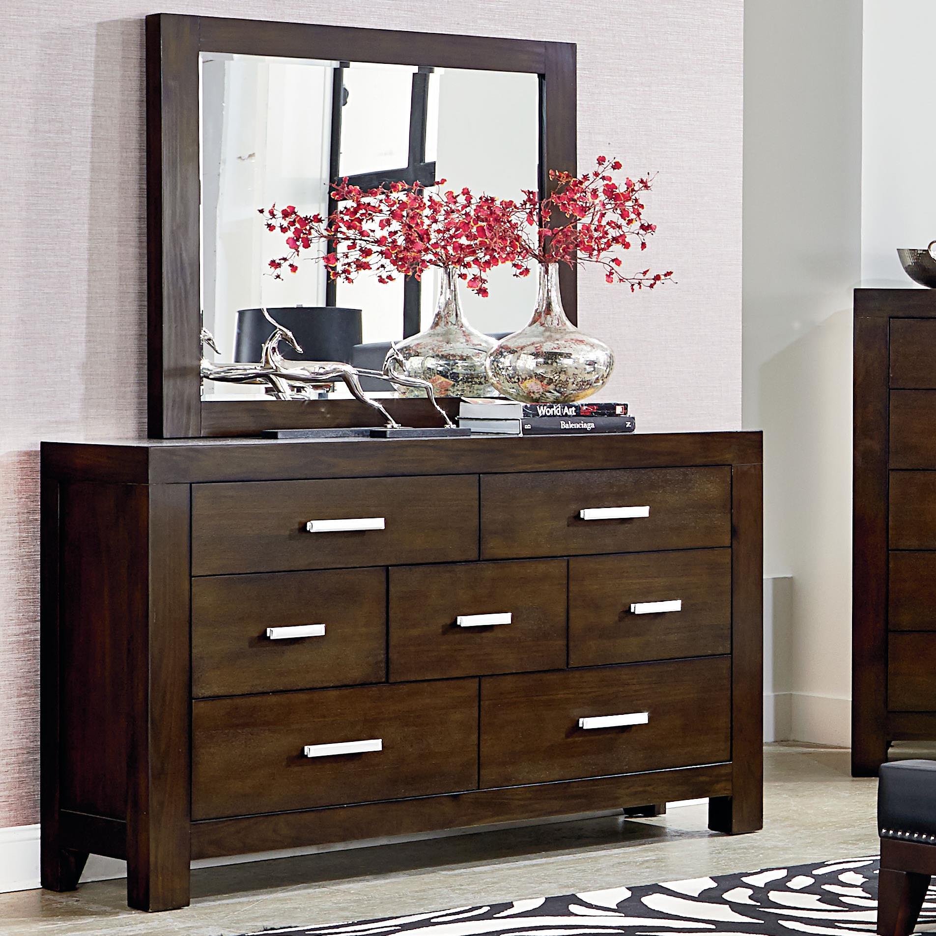 Standard Furniture Couture Dresser and Mirror Set - Item Number: 81558+81559
