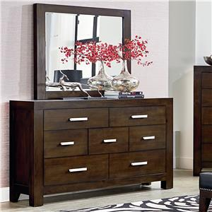 Standard Furniture Couture Dresser and Mirror Set