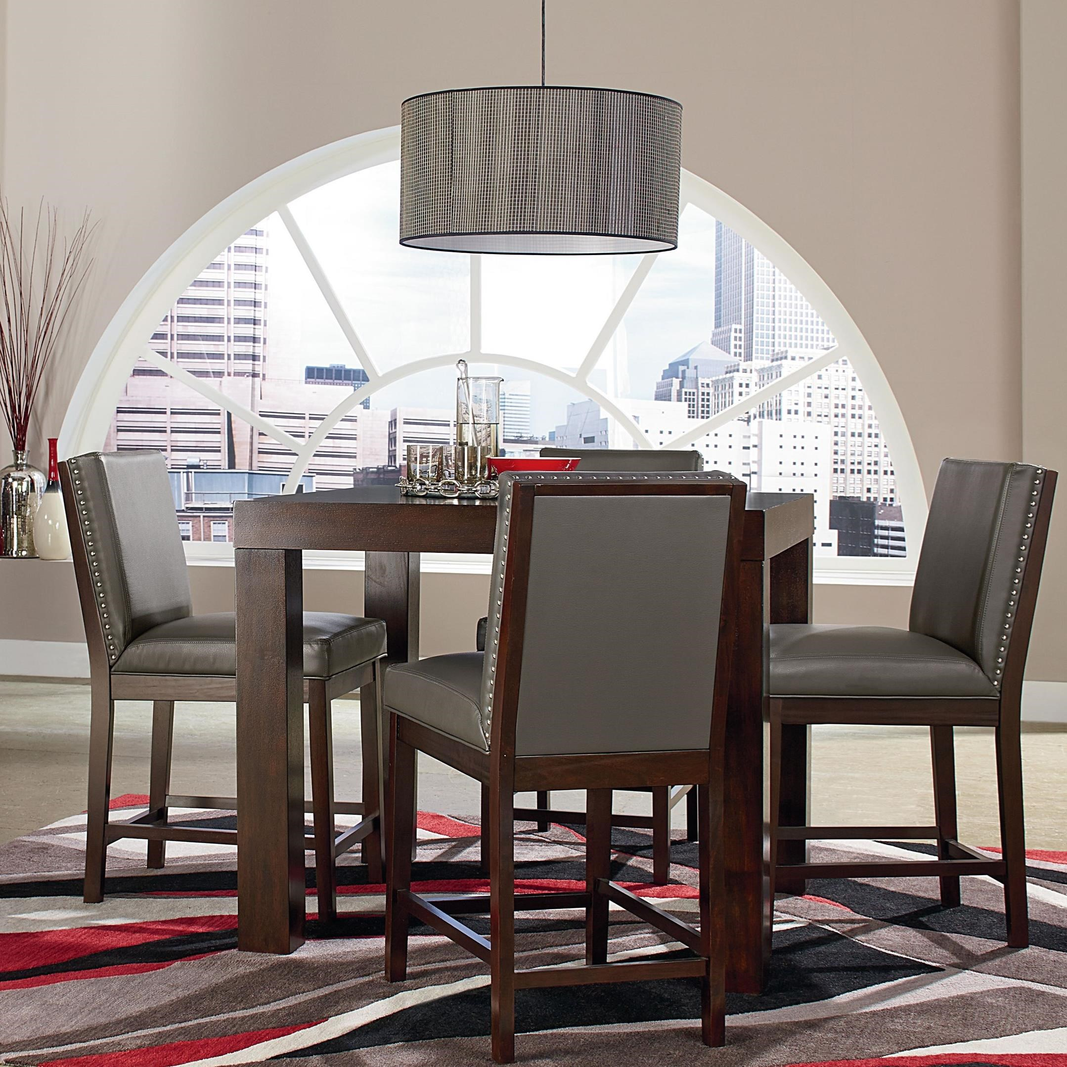 Standard Furniture Couture Elegance Table and Stool Set - Item Number: 10571+4x10575