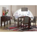 Standard Furniture Couture Elegance Square Counter Height Table and Upholstered Stool Set