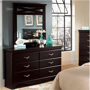 Standard Furniture Crossroads  Dresser & Mirror Combo