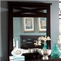 Standard Furniture Crossroads  Six Drawer Dresser & Panel Mirror Combination - Panel Mirror with Decorative Crossed Slats