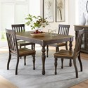 Standard Furniture Dunmore 5 Piece Table and Chair Set - Item Number: 10101+4x10104