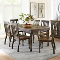 Standard Furniture Dunmore 7 Piece Table and Chair Set - Item Number: 10101+6x10104