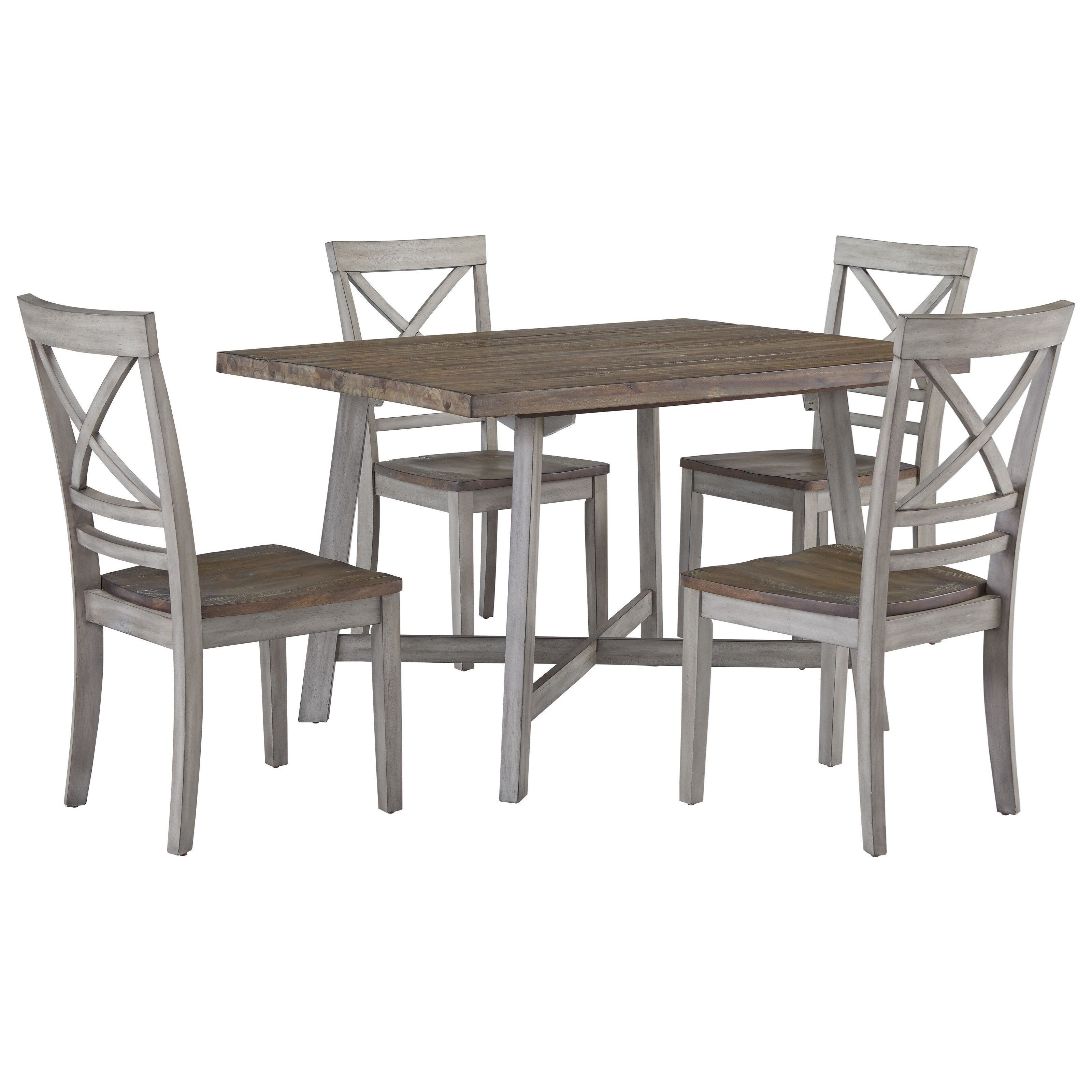 Standard Furniture Fairhaven 12862 Rustic Two Tone Table