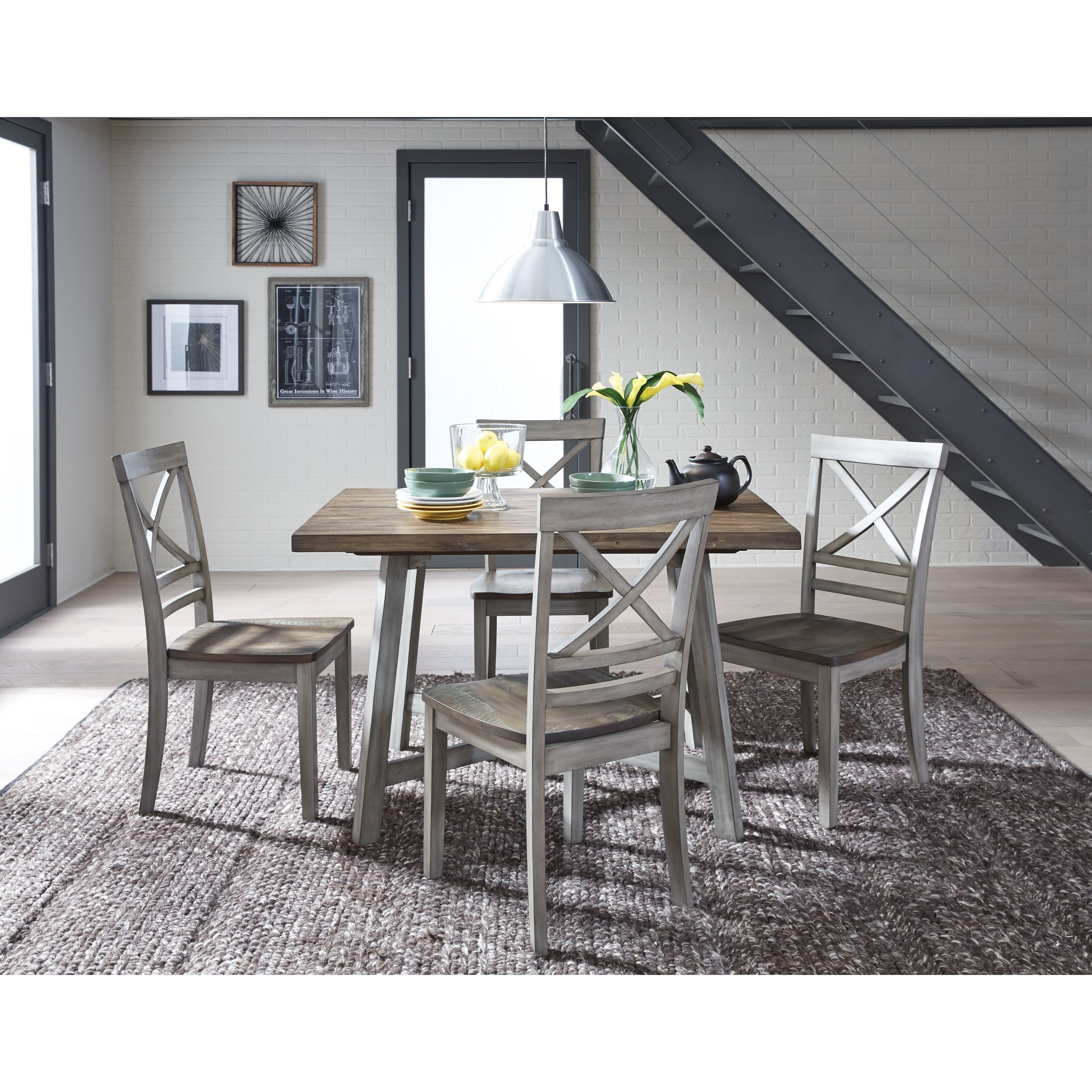 A Kitchen Fairhaven: Standard Furniture Fairhaven Rustic Two-Tone Table And