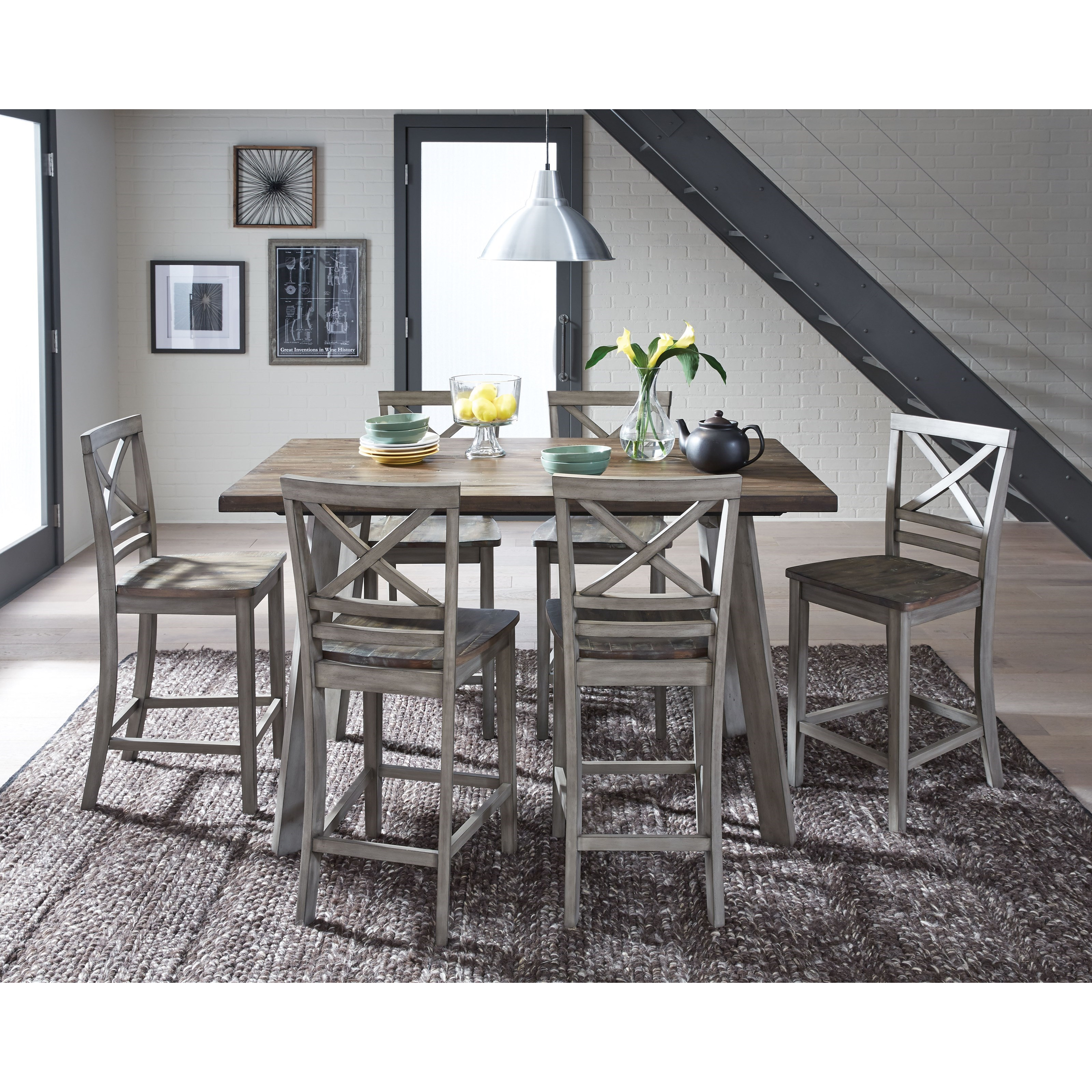 A Kitchen Fairhaven: Standard Furniture Fairhaven Rustic Table Set With Six