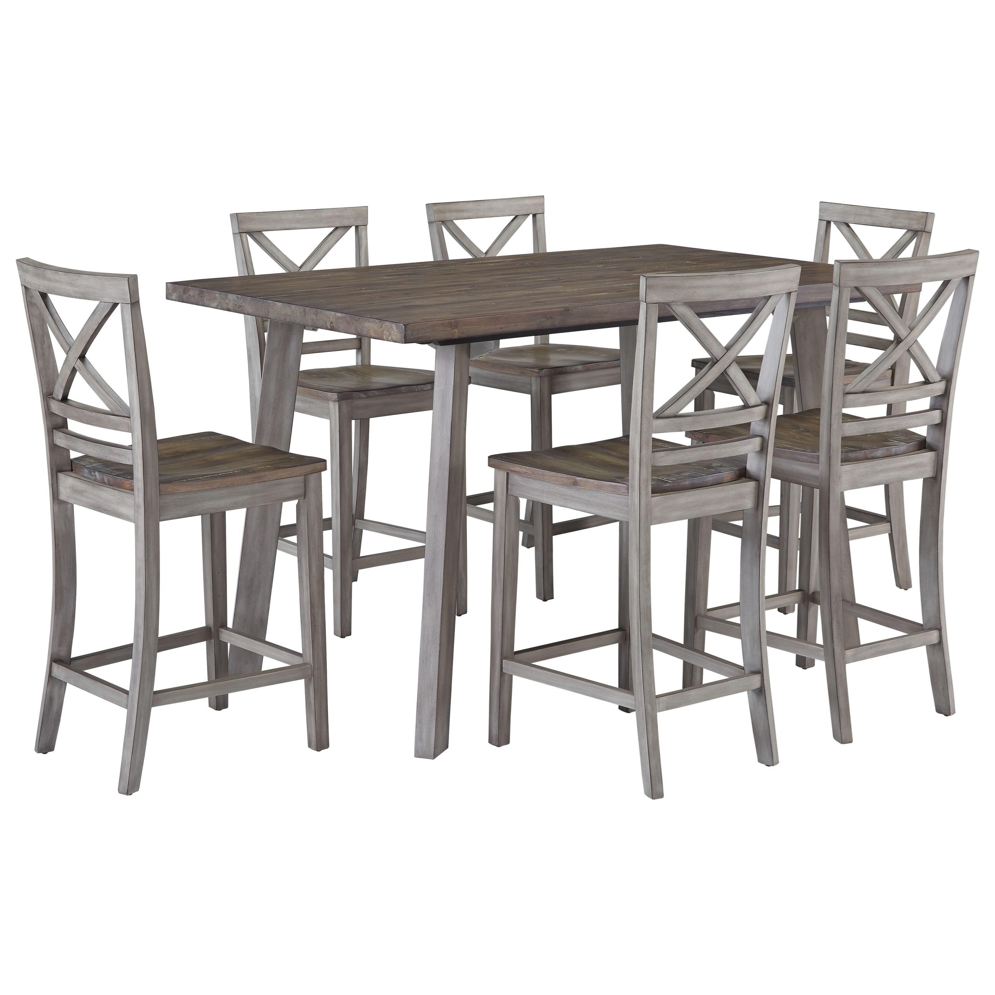 A Kitchen Fairhaven: Standard Furniture Fairhaven Rustic Counter Height