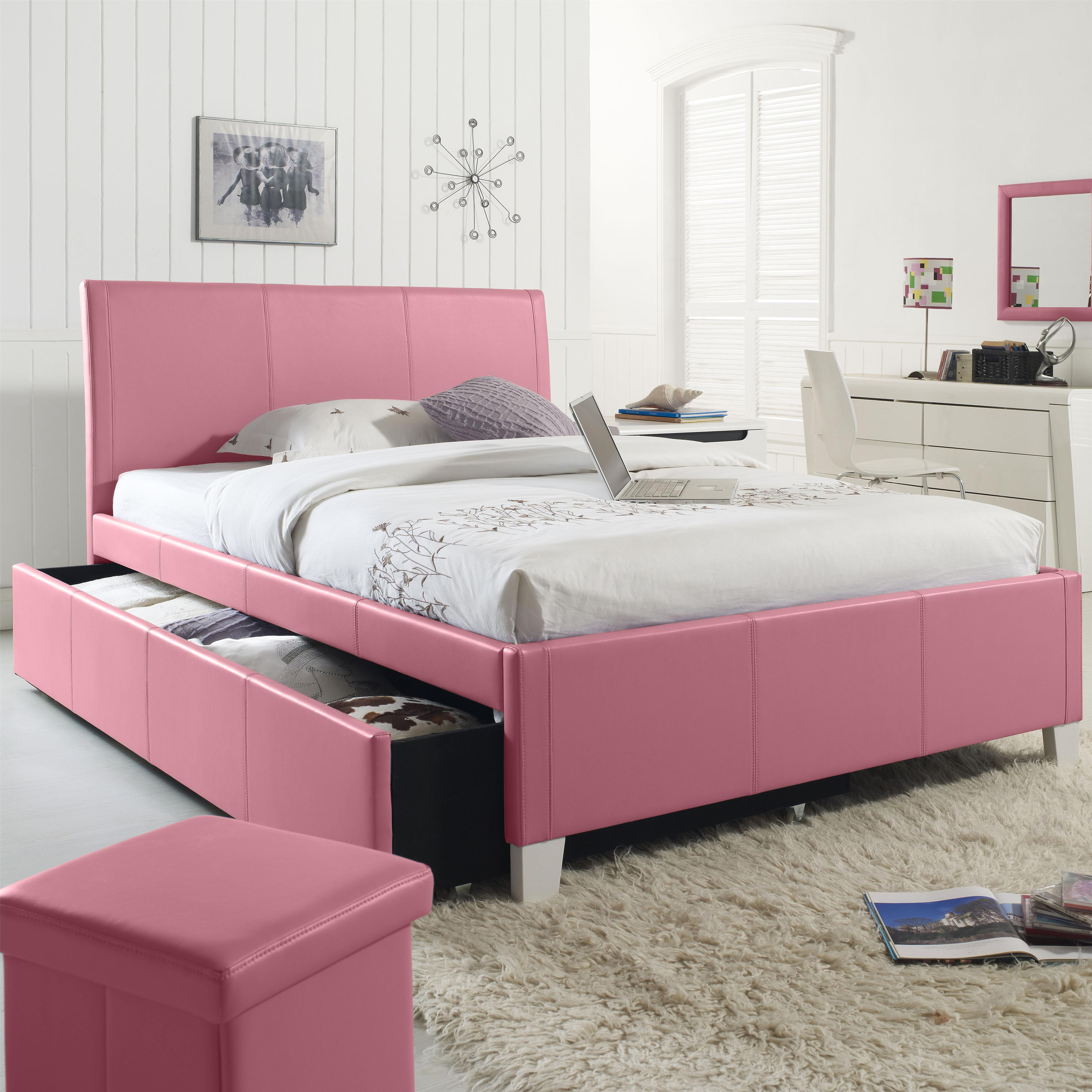 Picture of: Standard Furniture Fantasia Full Upholstered Youth Trundle Bed Fmg Local Home Furnishing Upholstered Beds