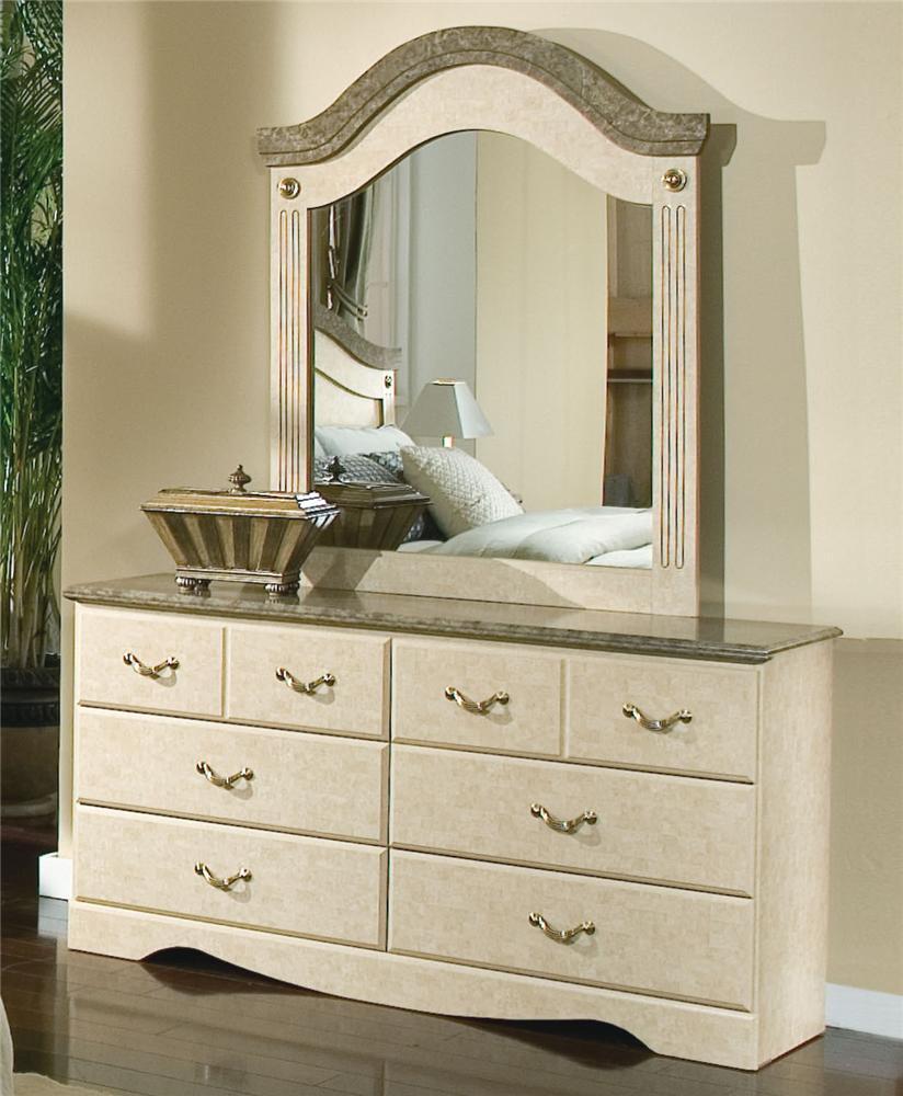 Standard Furniture Florence 5950 Mirror and Dresser - Item Number: 59509+59518