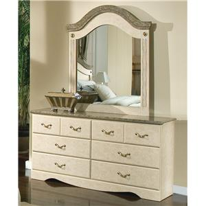 Standard Furniture Florence 5950 Mirror and Dresser