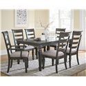Standard Furniture Garrison Dining Room Seven Piece Dining Set - Item Number: 14901+2x05+4x04