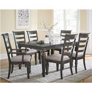 Standard Furniture Garrison Traditional Seven Piece Dining Set
