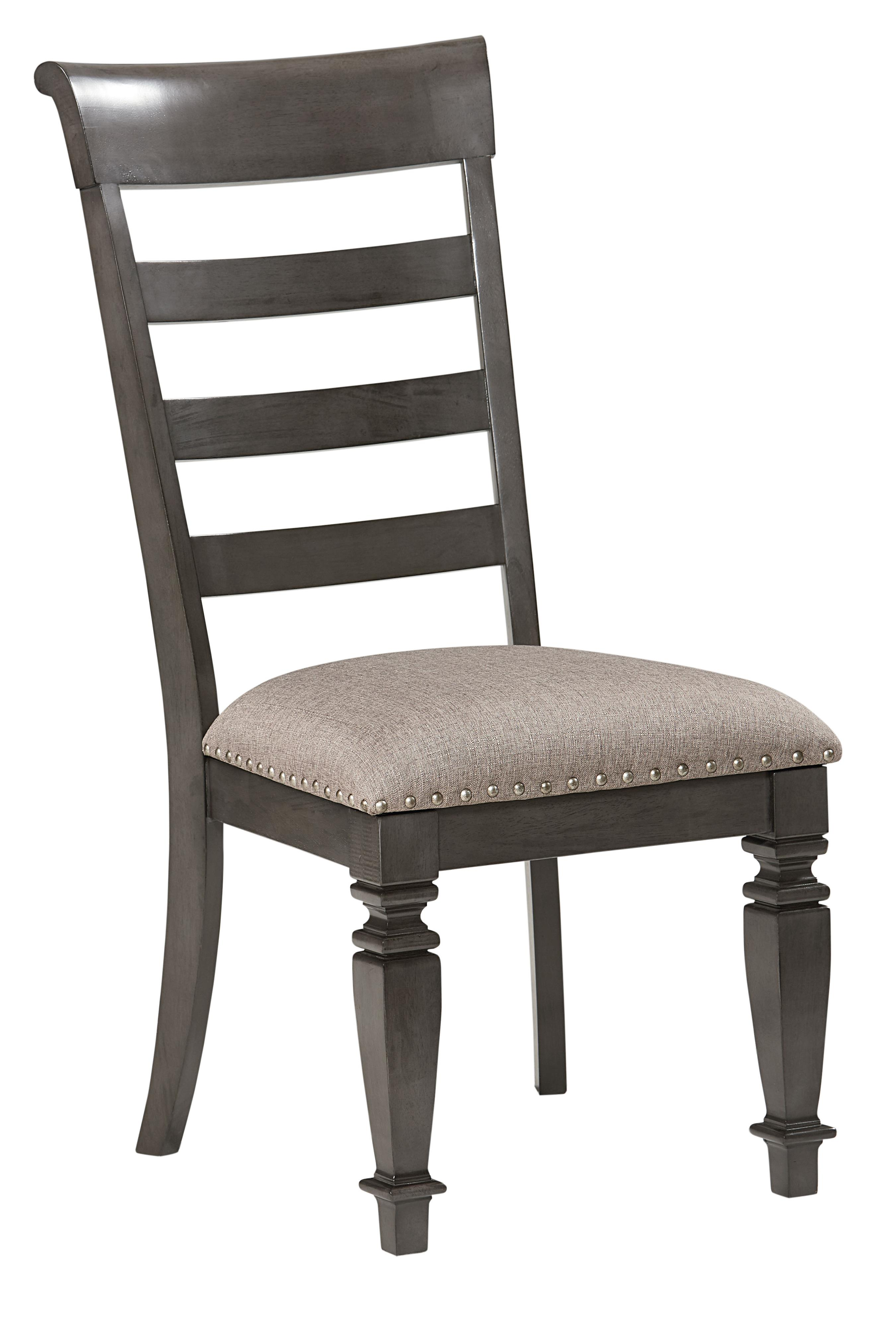 Traditional Upholstered Dining Chairs ~ Standard furniture garrison traditional upholstered side