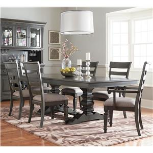 Standard Furniture Garrison Dining Room Trestle Dining Table Set