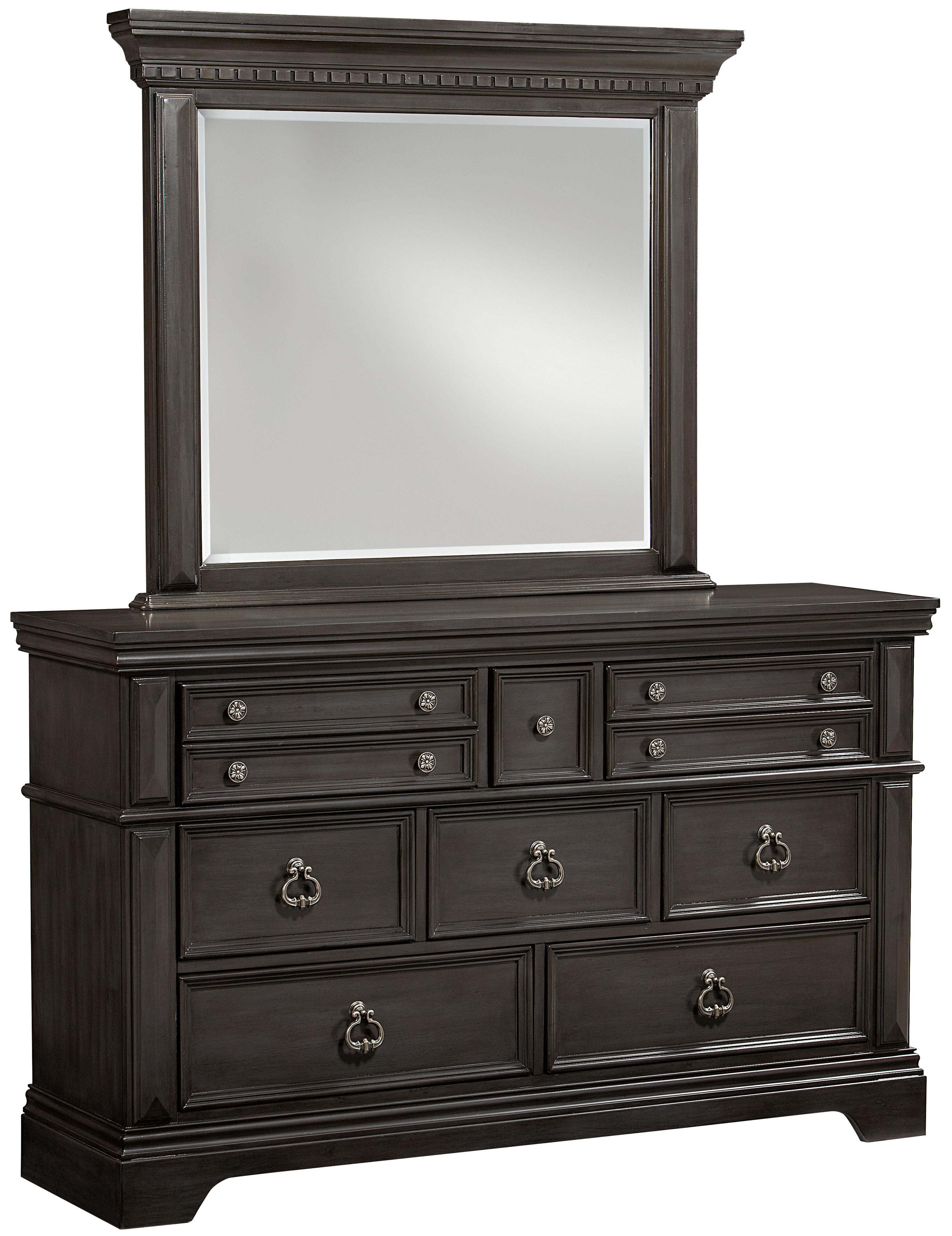 Standard Furniture Garrison Bedroom Dresser and Mirror Set - Item Number: 86308+86309