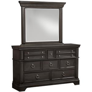 Standard Furniture Garrison Bedroom Dresser and Mirror Set