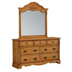 Standard Furniture Georgetown Traditional Dresser and Mirror Set