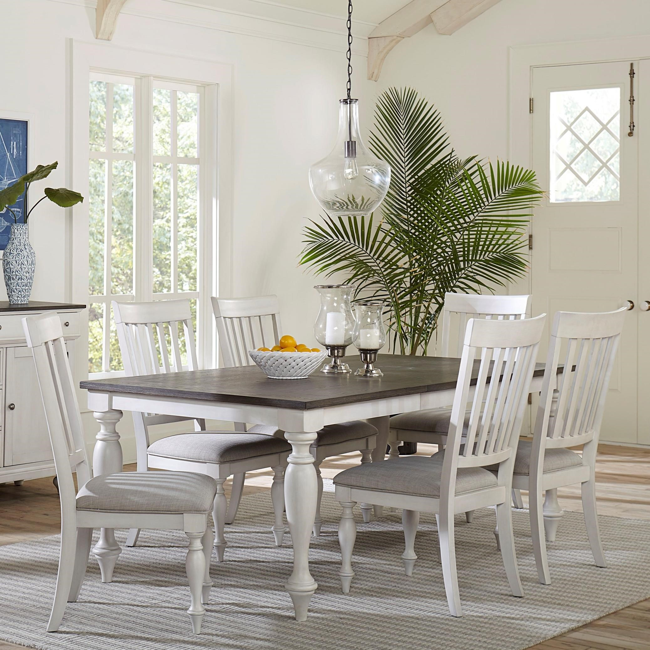 Standard Furniture Grand Bay Traditional 7 Piece Dining Table And Chair Set