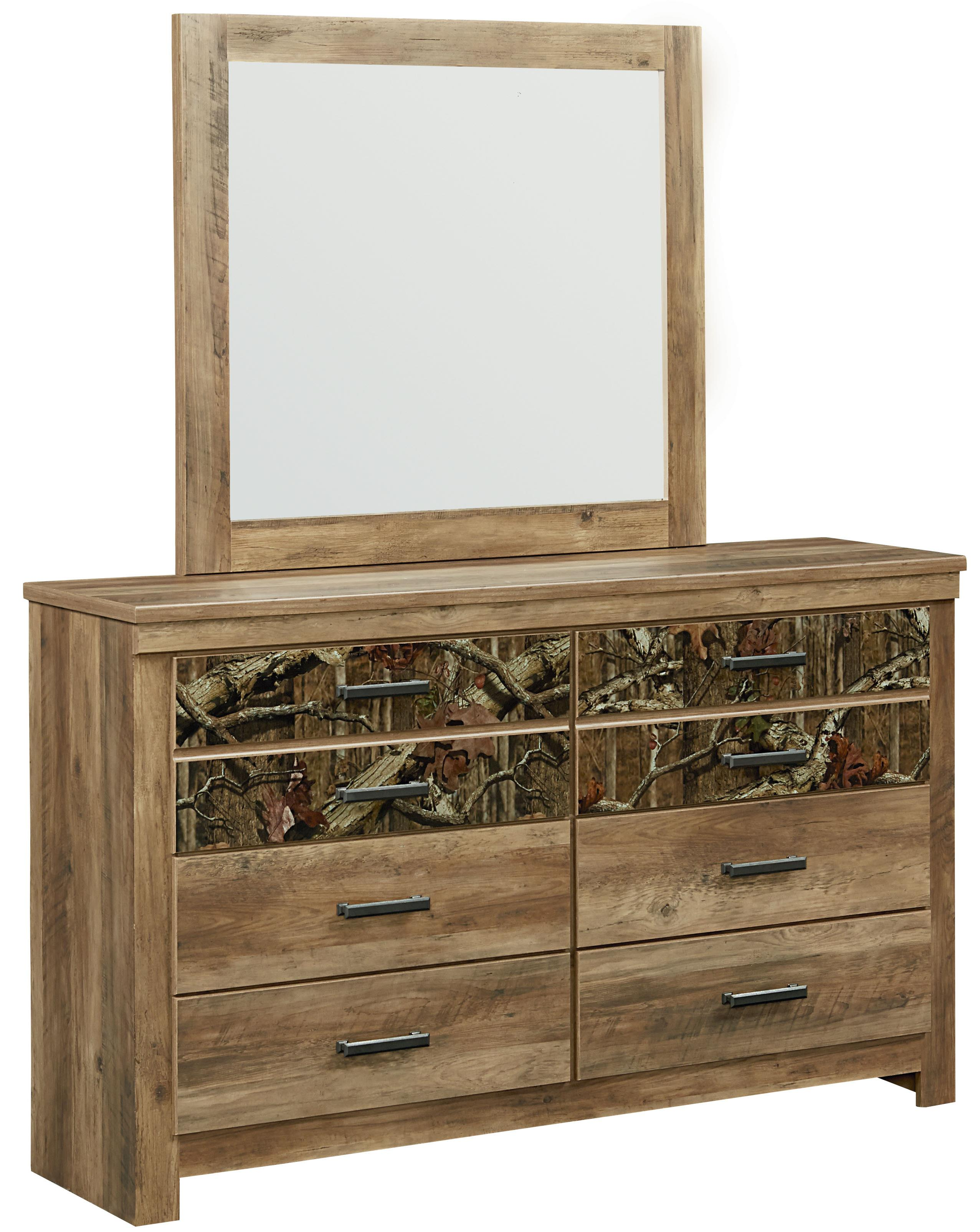 Standard Furniture Habitat Dresser and Mirror - Item Number: 55459+55468