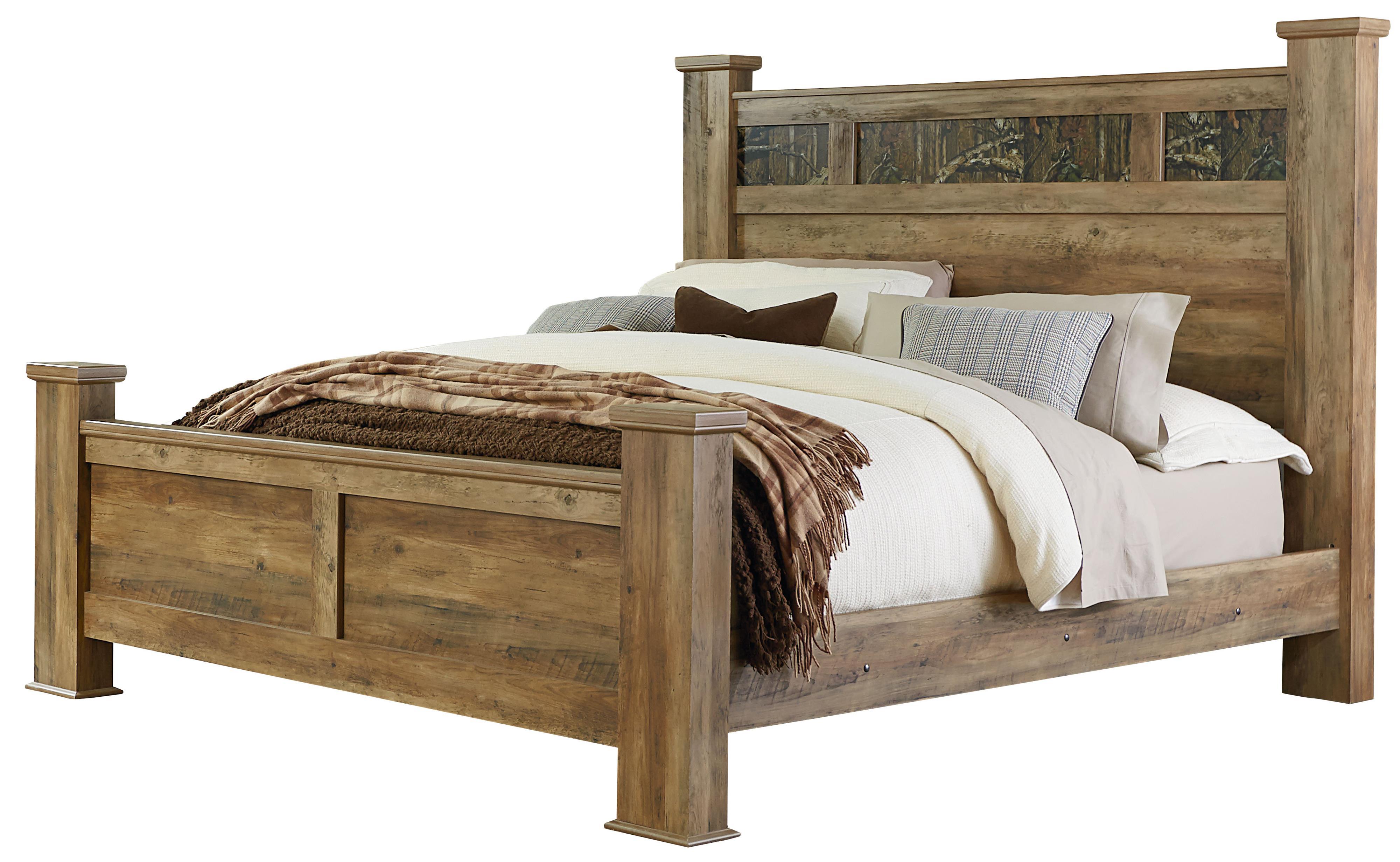 Standard Furniture Habitat Queen Panel Bed - Item Number: 55452+55462+55460+2x2055452