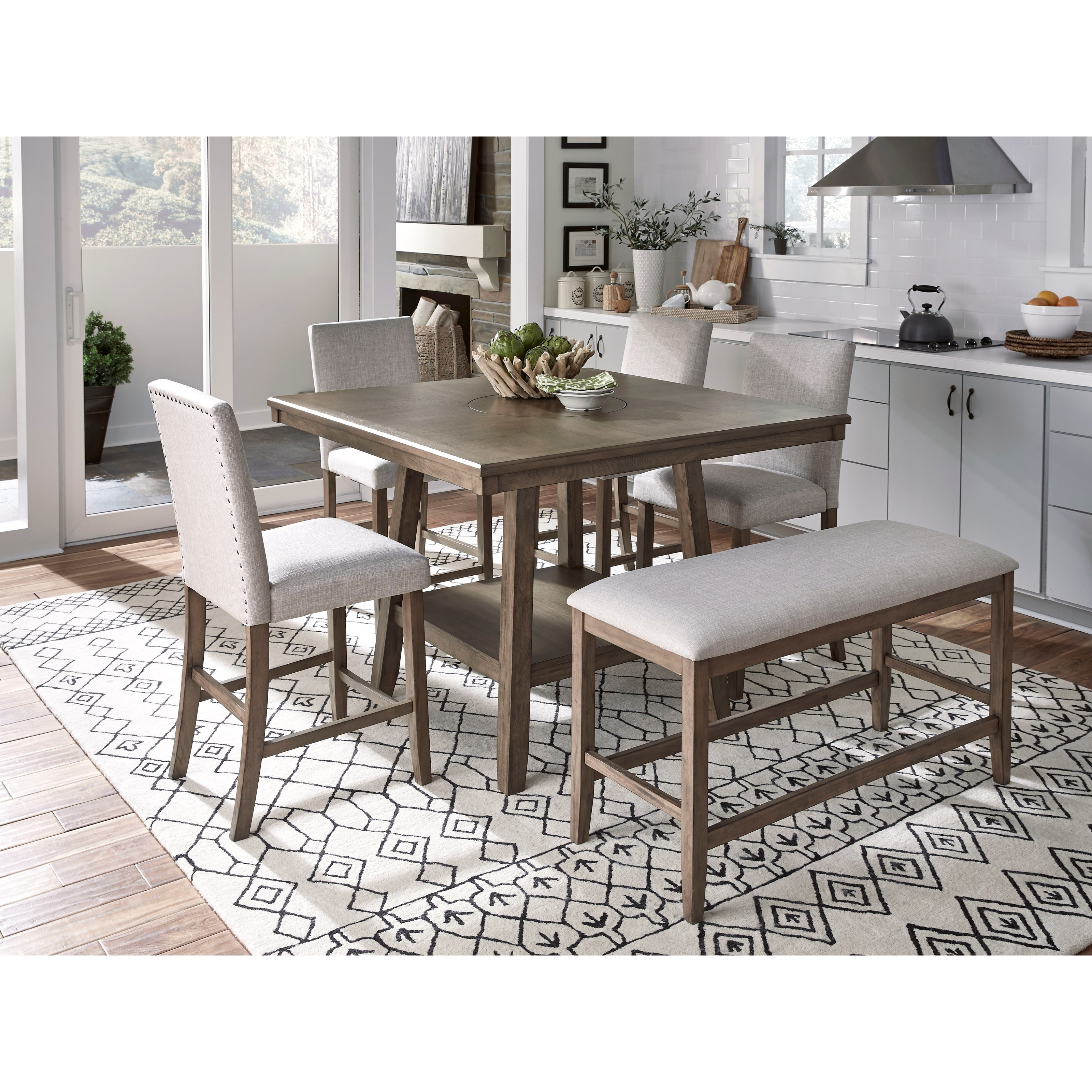 Superb Halden Counter Height Dining Set With Bench Beatyapartments Chair Design Images Beatyapartmentscom